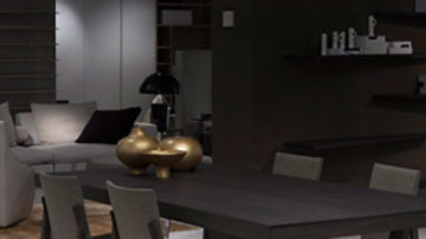 The Molteni Store is lighting up by Oluce