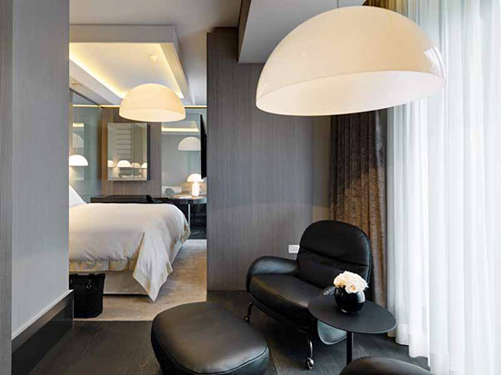 "Oluce in the ""Suite Design"" of Hotel Gallia Excelsior in Milan"