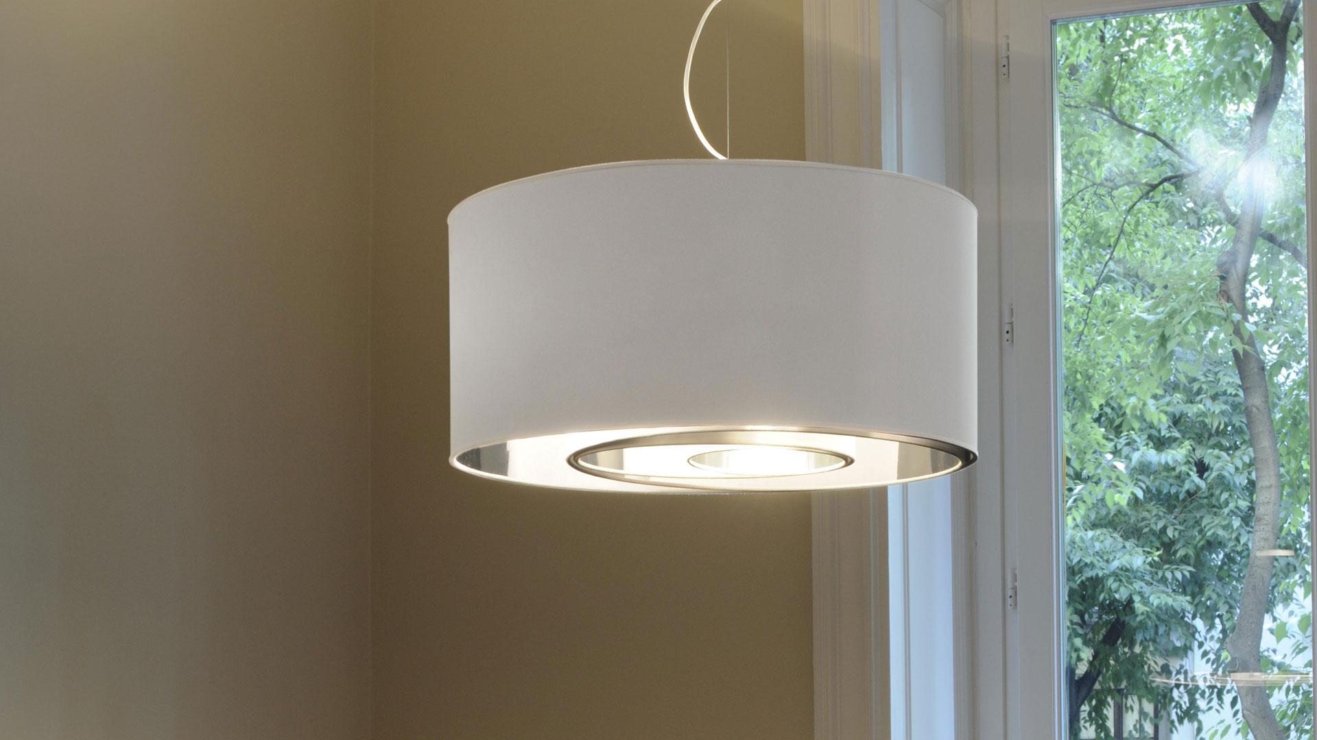 Circles oluce - Lampada sospensione sopra tavolo altezza ...