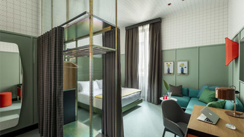 Oluce's bespoke service in the new Room Mate Giulia Hotel