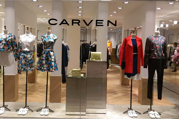 Oluce illumina la boutique di Carven ad Hong Kong