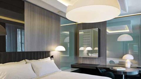 """Oluce illumina la """"Suite Design"""" dell'Hotel Gallia Excelsior a Milano"""