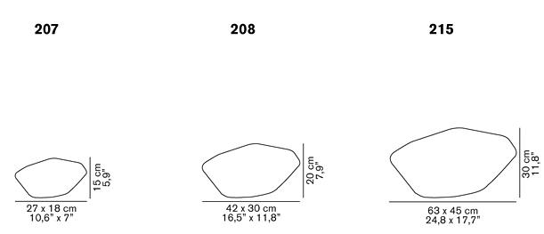 Stones 207, 208, 215