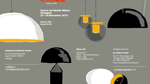 Oluce in China for the Salone del Mobile Milano.Shanghai