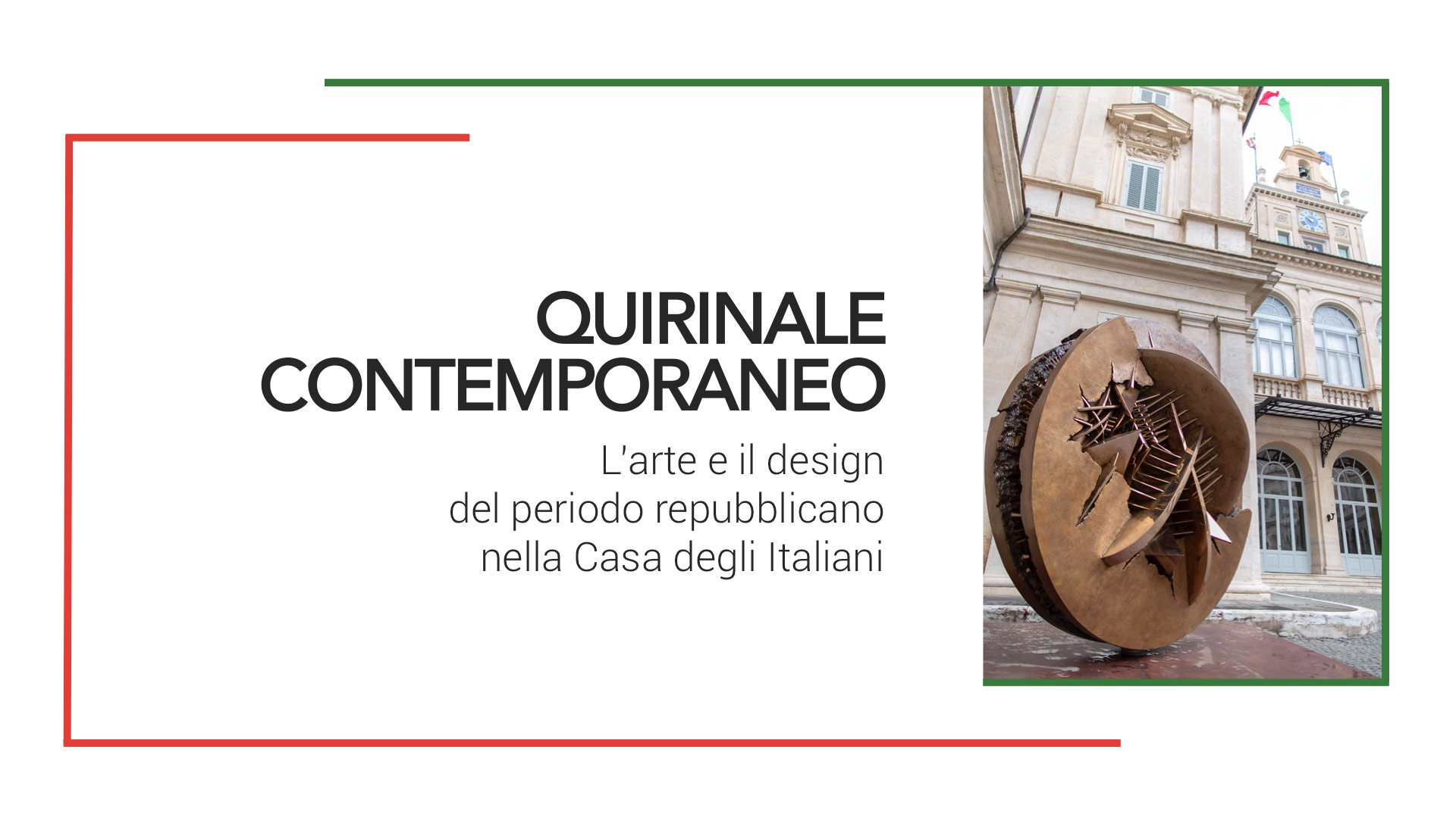 Atollo and Zanuso by Oluce among work selected for the show Quirinale Contemporaneo