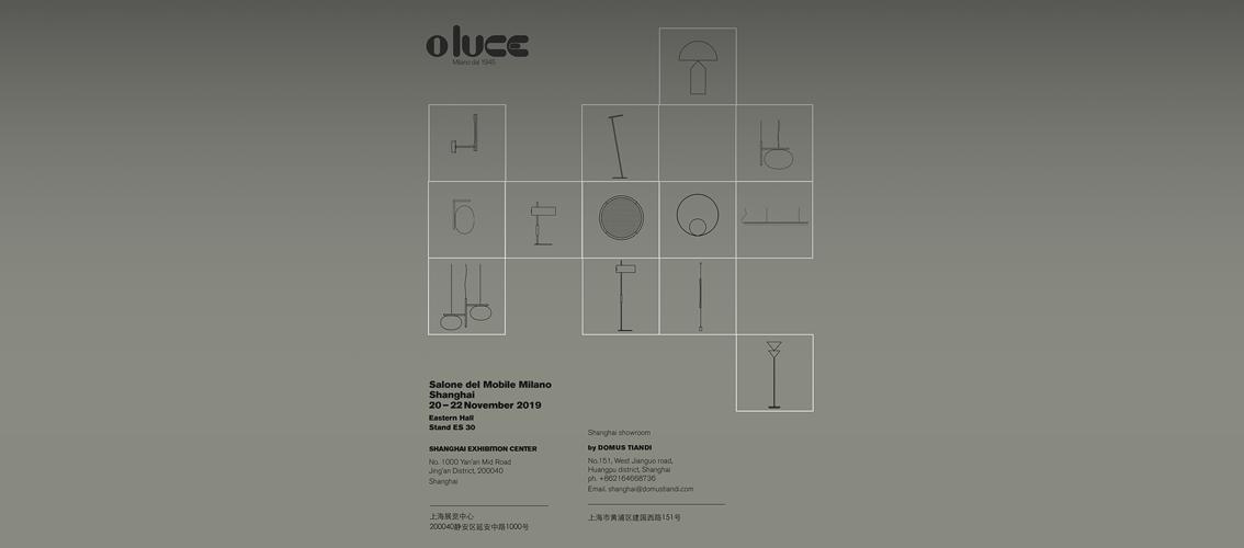 Oluce al Salone del Mobile di Milano.Shanghai 2019
