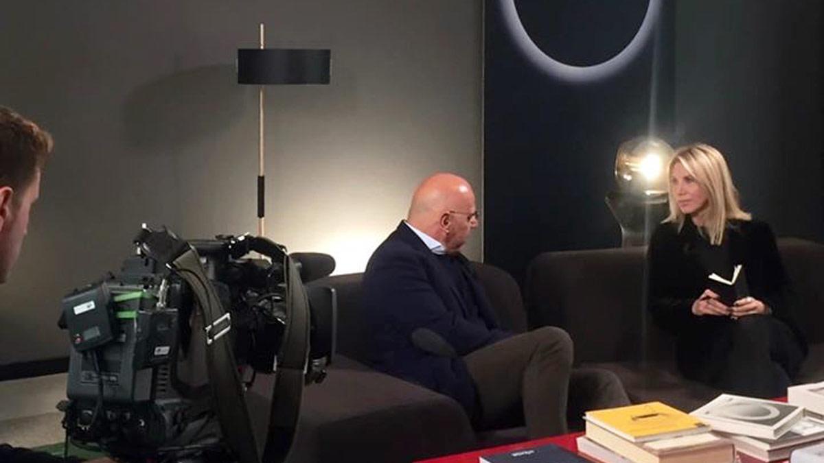 An interview with Antonio Verderi broadcast on RAI ITALIA