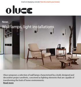 Wall lamps, light installations