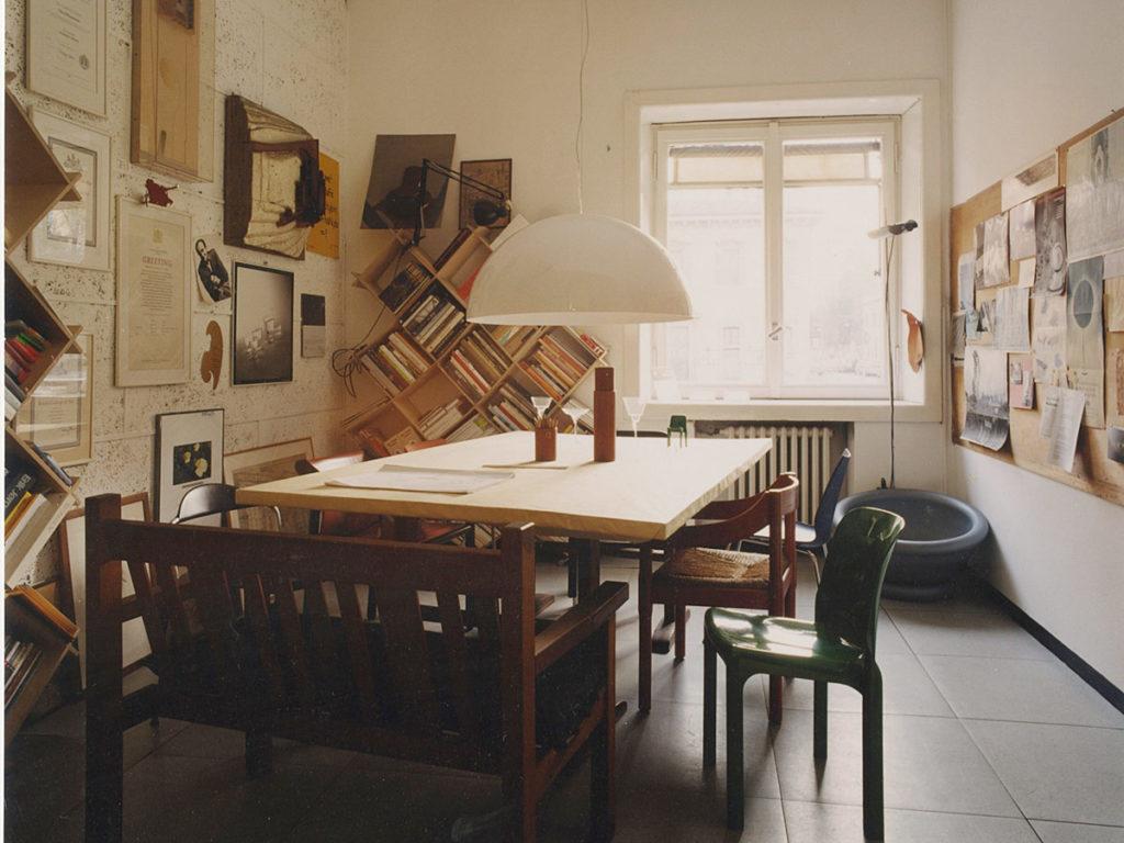 Sonora in the Vico Magistetti's studio in Milan