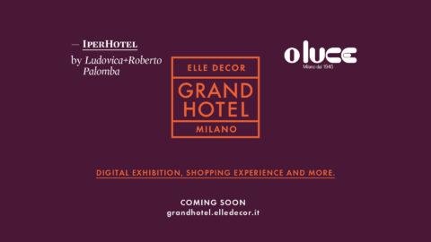 Oluce illuminates the Grand Hotel of Elle Décor
