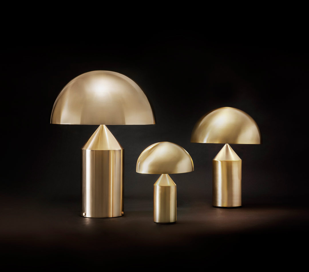 Oluce Gold – Precious lamps for a twinkle Christmas