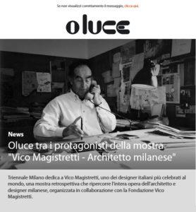 Oluce tra i protagonisti della mostra ''Vico Magistretti – Architetto milanese''